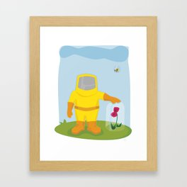 Allergy Season: Hazmat Suit Framed Art Print