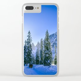Sunny morning in Val Fiscalina Clear iPhone Case
