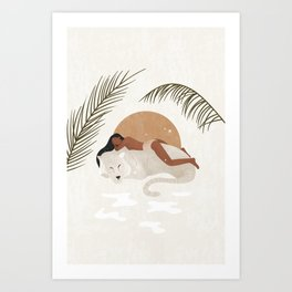 A tiger doesn't lose sleep overthe opinion of sheep Art Print