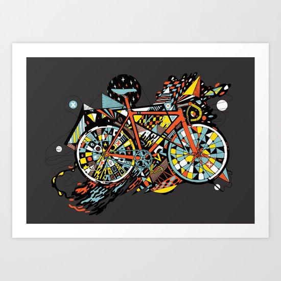 FIX TRIP ~ BLACK Art Print