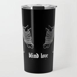 """Blind Love"" Illustration Travel Mug"
