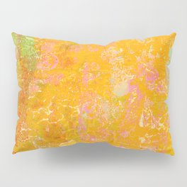 Delight, Marbled Abstract Art Painting Pillow Sham