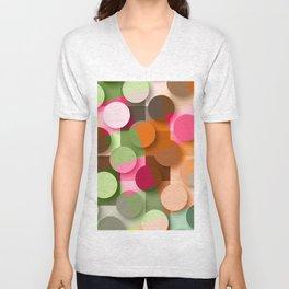 dots & squares Unisex V-Neck