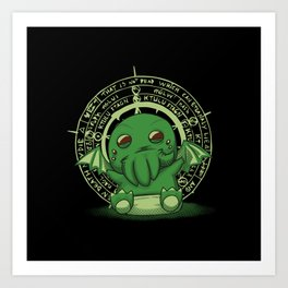 Little Cthulhu Art Print