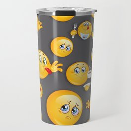 Emoji Pattern 5 Travel Mug