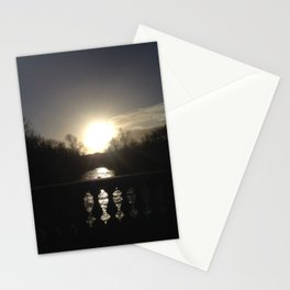 Scottish Photography Series (Vectorized) - Sunset Over The Kelvin Stationery Cards