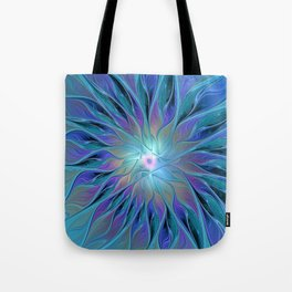 Decorative Flower Fractal Tote Bag