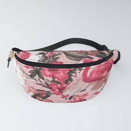 Floral and Flemingo III Pattern Fanny Pack
