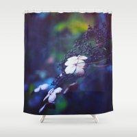 hydrangea Shower Curtains featuring Hydrangea by Nikita Gill