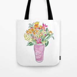 Smoothie & Bouquet Tote Bag