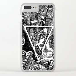 The Triangle of Terror Clear iPhone Case