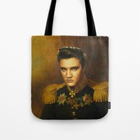 replaceface Tote Bags featuring Elvis Presley - replaceface by replaceface