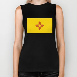 Flag of New Mexico - Authentic High Quality Image Biker Tank