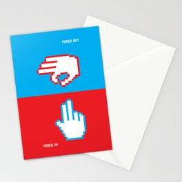 Peace In Peace Out Stationery Cards
