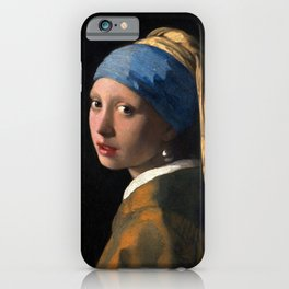 """Johannes Vermeer, """" The girl with a pearl earring """" iPhone Case"""