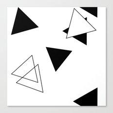 Modern Black Triangles Canvas Print