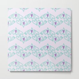 Seamless patterns with hearts Metal Print