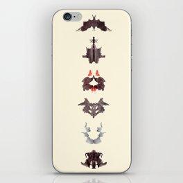 rosrach test iPhone Skin