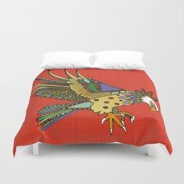jewel eagle fire Duvet Cover