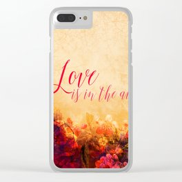 LOVE IS THE AIR Portrait Clear iPhone Case