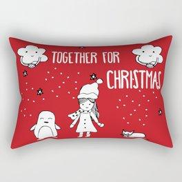 Together for Christmas Rectangular Pillow