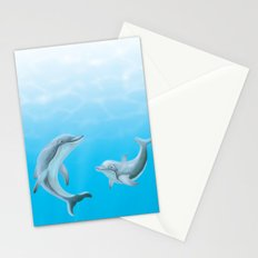 Dolphins in the Ocean Stationery Cards