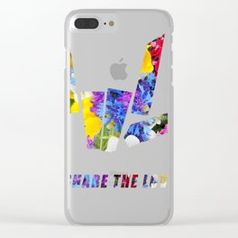 Share the Love flowers T-Shirt Gift for Men Women Kids Clear iPhone Case