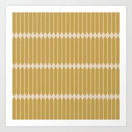 Minimal Geometric Pattern - Ochre Yellow Art Print