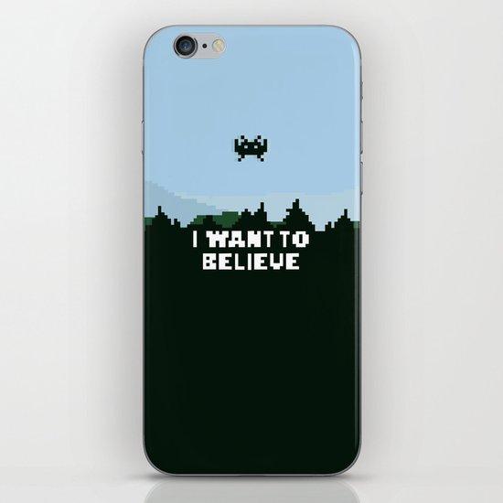 i want to believe. iPhone & iPod Skin