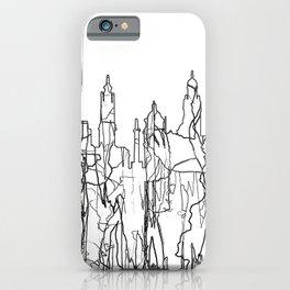 Glasgow, Scotland UK Skyline B&W - Thin Line iPhone Case