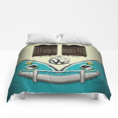 Special Gift for Summer Holiday blue teal minivan minibus iPhone 4 4s 5 5c 6, pillow case and mugs Comforters