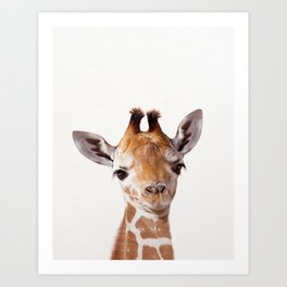 Baby Giraffe, Baby Animal Art Prints By Synplus Art Print
