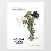 Like, the Scarecrow (color) Art Print