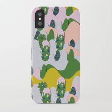 Whimsical mountains iPhone X Slim Case
