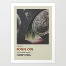 Rogue One Retro Poster II Art Print