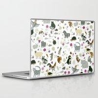 toddler Laptop & iPad Skins featuring Animal Chart by Yuliya