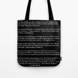Annabel Lee Edgar Allan Poe black Classic Poem Tote Bag