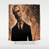 gangster Shower Curtains featuring Gangster No.1 by Cadmium Craig