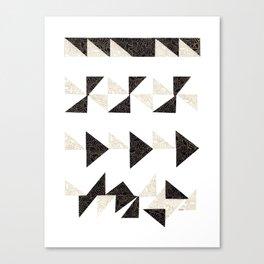 Origami Triangles Canvas Print