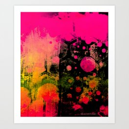 In a Pink and Black Mood Art Print