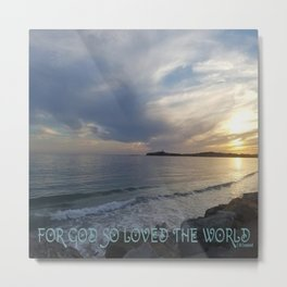 """God's Love"" Metal Print"