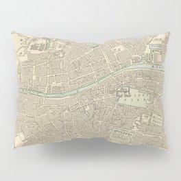 Vintage Map of Dublin Ireland (1901) Pillow Sham