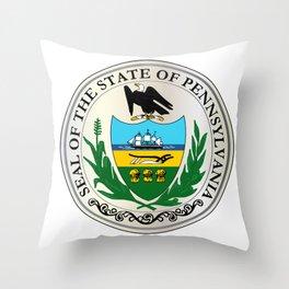 Great Seal of Pennsylvania Throw Pillow