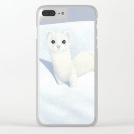 Ermine Weasel Clear iPhone Case