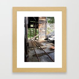 Exploring the Longfellow Mine of the Gold Rush - A Series, No. 8 of 9 Framed Art Print