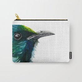 New Zealand Colorful Tui Bird Carry-All Pouch