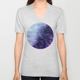 Offshore We Go Purple Glitch Pattern Unisex V-Neck