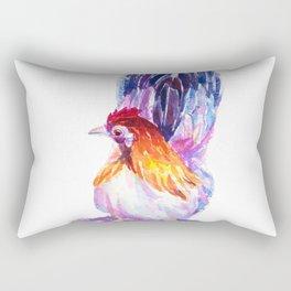 Watercolor of bantam Rectangular Pillow