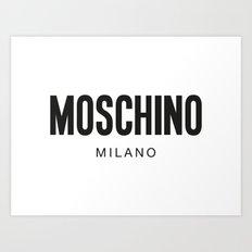 Moschino Milano Art Print