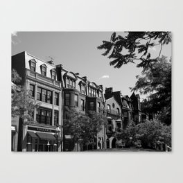 Along the City Streets Canvas Print